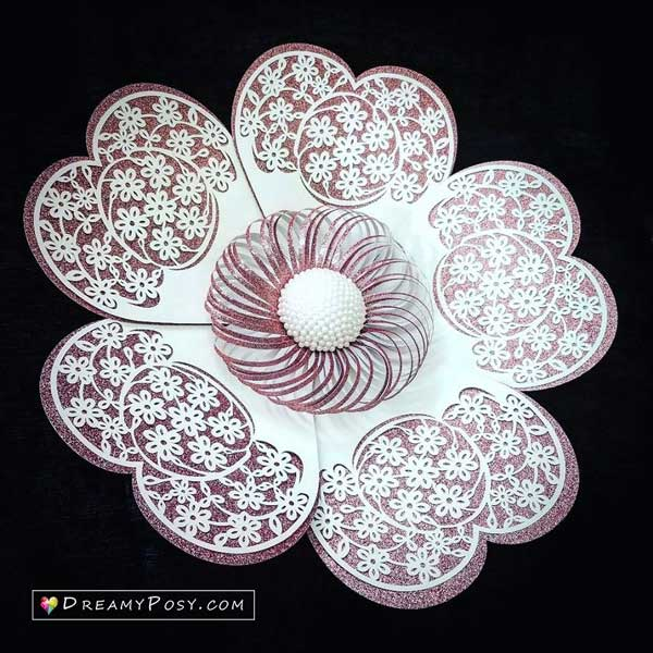 Giant flower template and tutorial
