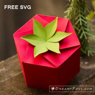 Free template SVG gift box