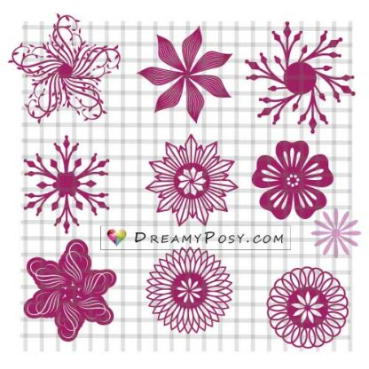 Flower center templates, SVG templates, giant flower templates
