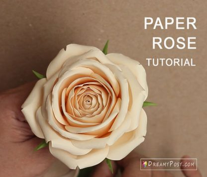 Paper rose tutorial