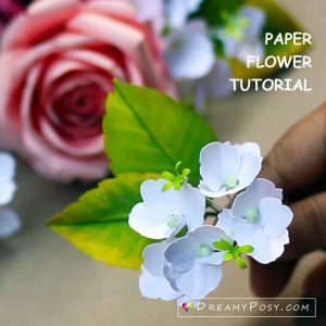 Paper hydrangea template and tutorial