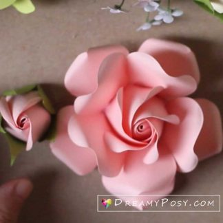 Paper rose tutorial, free template