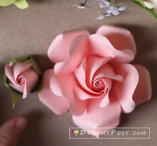 Paper rose tutorial, free template