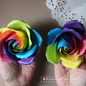 rainbow rose template