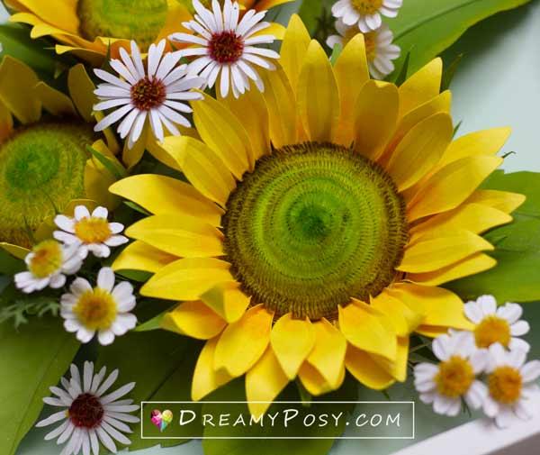 Paper sun flower template