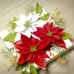 Christmas paper flower set
