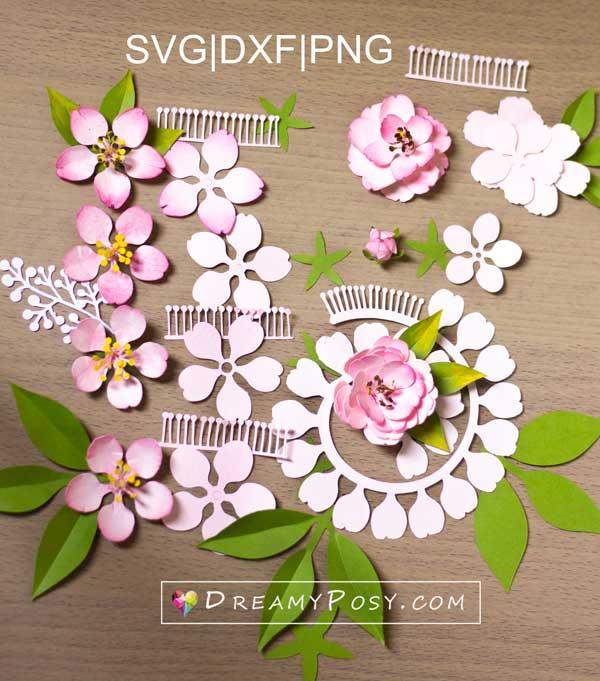 Paper blossom templates