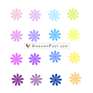 Tiny flower template
